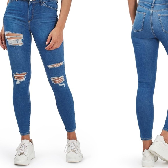 77fee3d9ee3 Leigh moto super ripped ankle skinny jeans 25x30. M_5b70cde91537959ed54eadd2
